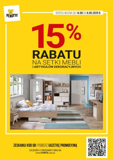 15% RABATU na meble FORTE